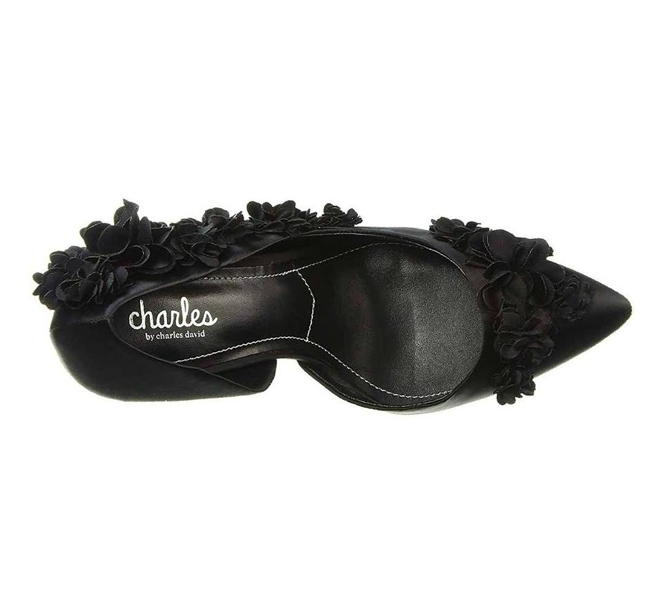 f7f88c58a05b Charles by Charles David Black Women s Floral Polly D orsay Pumps Size US  10 Regular (M