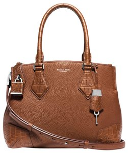 Michael Kors Leather 31s5pscs2r Satchel in Luggage