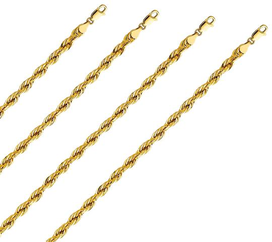 Top Gold & Diamond Jewelry 14k Yellow Gold 5 mm Silky Hollow Rope Diamond Cut Chain - 22