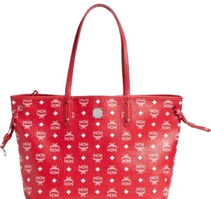 MCM Tote in red