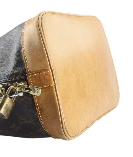 Louis Vuitton Coated Canvas Satchel in Brown Image 6