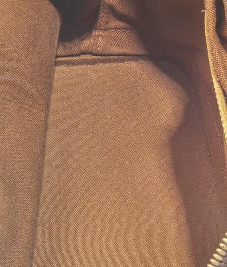 Louis Vuitton Coated Canvas Satchel in Brown Image 8