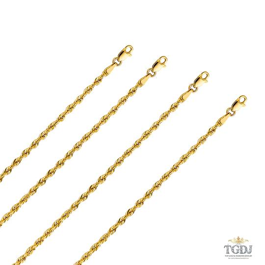 Top Gold & Diamond Jewelry 14k Yellow Gold 2.5 mm Silky Hollow Rope Diamond Cut Chain - 20