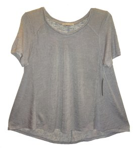 Tart Collections Scoop Neck Sleeves Super Soft Airy Wardrobe Go To Piece T Shirt Gray