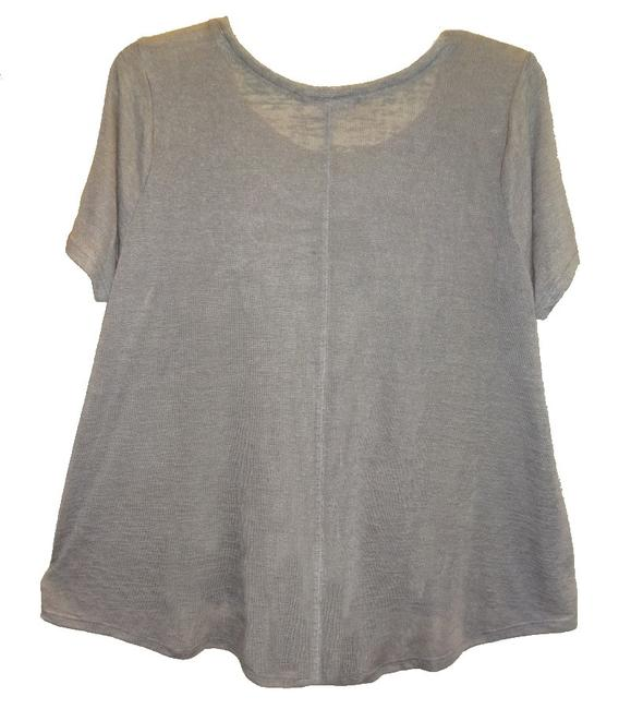 Tart Collections Scoop Neck Sleeves Super Soft Airy Wardrobe Go To Piece T Shirt Gray Image 2