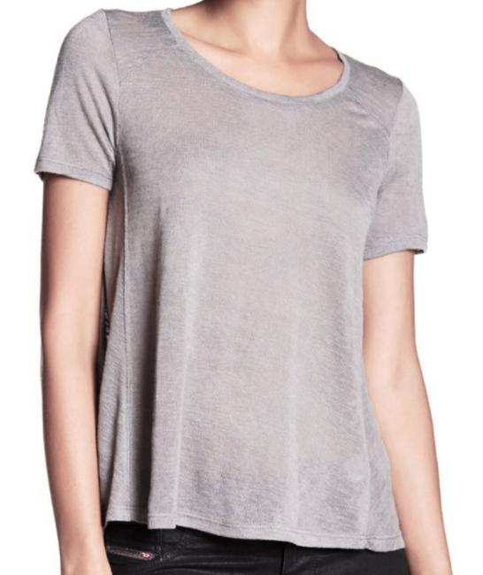 Tart Collections Scoop Neck Sleeves Super Soft Airy Wardrobe Go To Piece T Shirt Gray Image 3
