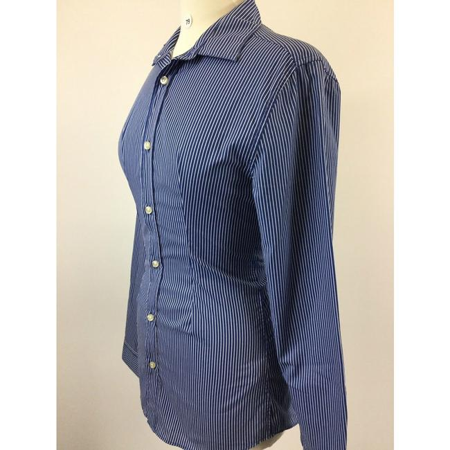 H&M Button Down Shirt Blue Image 1