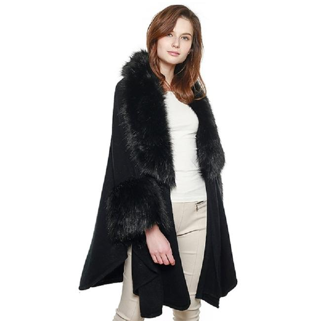 Preload https://img-static.tradesy.com/item/24288847/black-new-luxurious-faux-accented-cape-shawl-taupe-coat-size-os-one-size-0-0-650-650.jpg