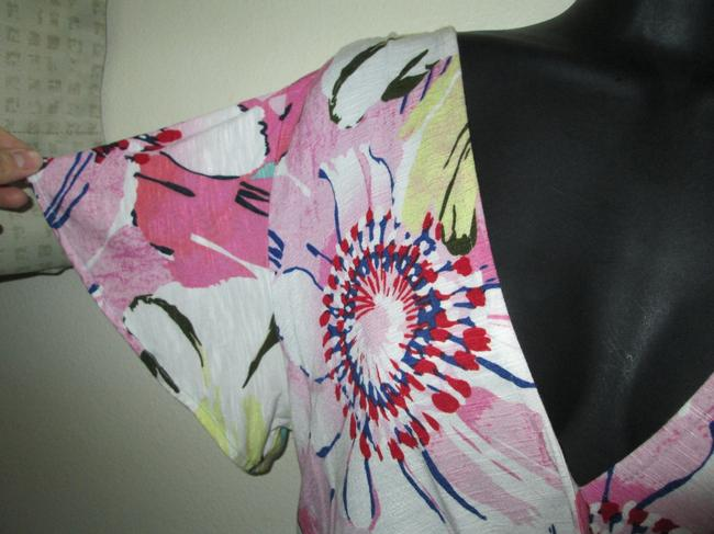 Anthropologie Floral Wrap Spring Summer Casual Top Multicolored Image 3