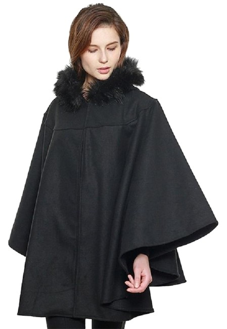 Preload https://img-static.tradesy.com/item/24288934/black-new-faux-hooded-cape-shawl-w-closure-coat-size-os-one-size-0-3-650-650.jpg