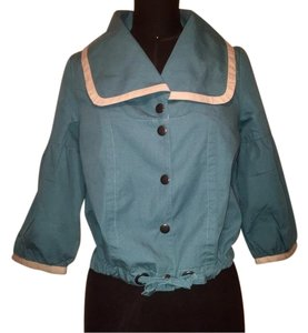 Tulle teal and cream Jacket