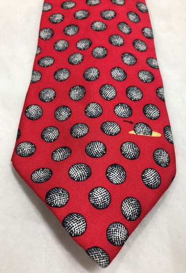 Barry Wells Collection Barry Wells Collection Hole In One Golf Necktie Tie Made in Italy Image 1
