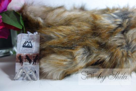 imposter4animals Imposter Animal Friendly Faux Fur Scarf Pull Through Wrap & Pin Image 3