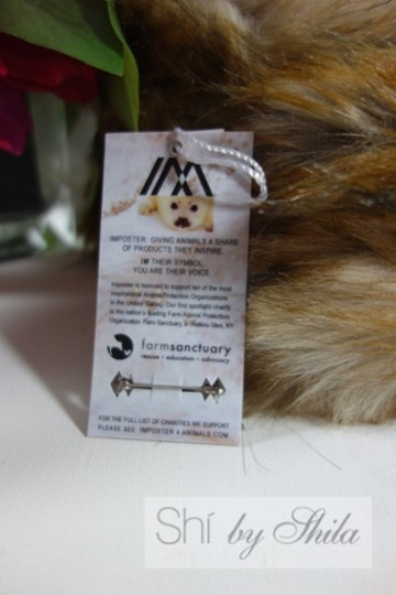 imposter4animals Imposter Animal Friendly Faux Fur Scarf Pull Through Wrap & Pin Image 5