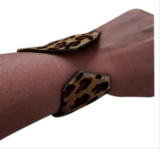 kemistry Leopard fur and leather cuff Image 2