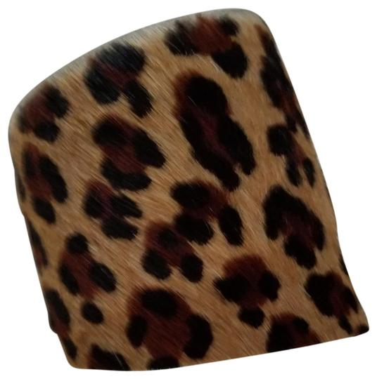 kemistry Leopard fur and leather cuff Image 3