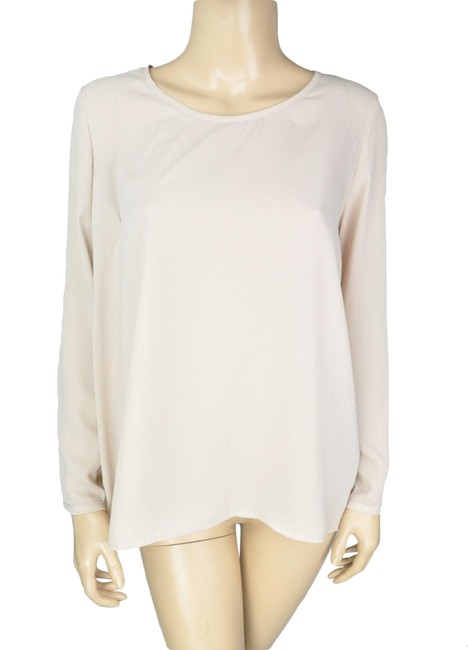 Preload https://img-static.tradesy.com/item/24289089/pleione-beige-back-cutout-long-sleeve-shirt-blouse-size-6-s-0-3-650-650.jpg