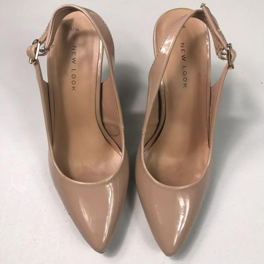 New Look Pointed Toe Patent Leather Blush Pumps Image 3