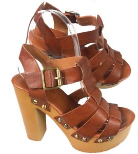 9207a4adb819 Added to Shopping Bag. New Look Leather Slingback Brown Platforms. New Look  Brown Women s Block Heel Sandals ...
