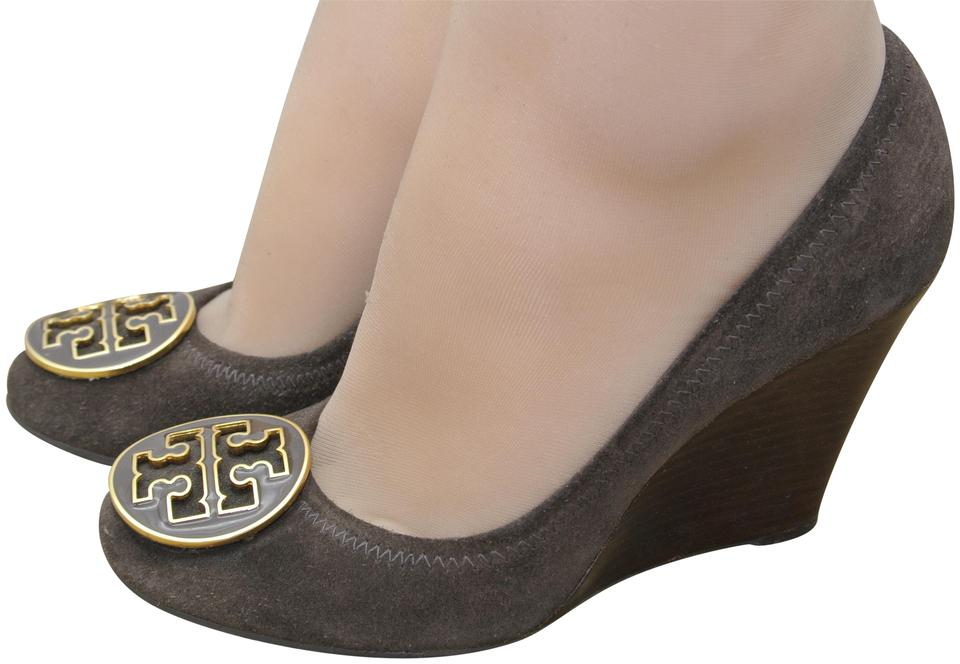 bd5957c2598f13 Tory Burch Brown Sophie Wedges Size US 6 Regular (M