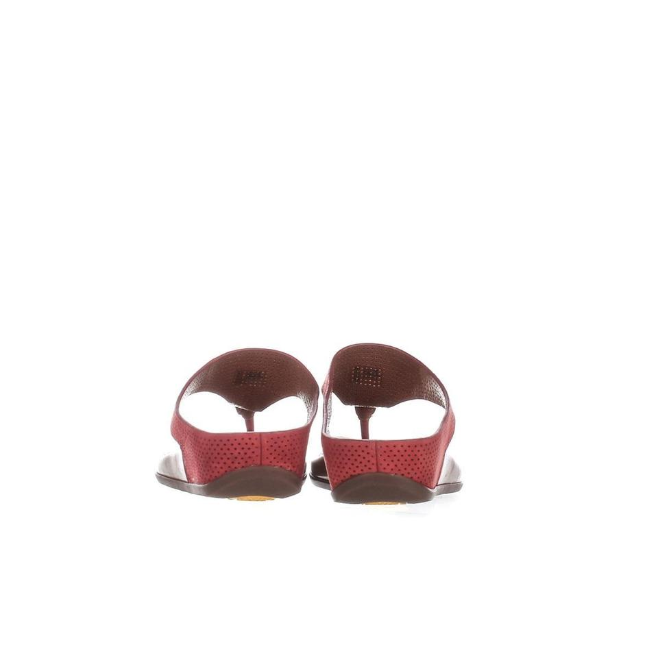 cc235993926 FitFlop Red Banda Perf Wedge Perforated Flip Flops Dusty   36 E ...