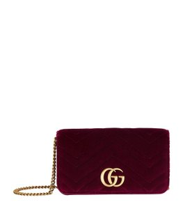3f0e51aa4147 Added to Shopping Bag. Gucci Marmont Mini Gg Shoulder Bag. Gucci Marmont  Mini Fuchsia Velvet ...