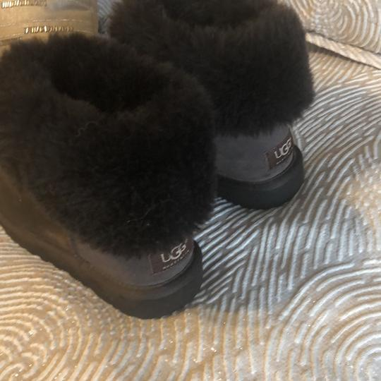 Ugg Short Fur Lined Booties Cocoa Brown Boots Image 3