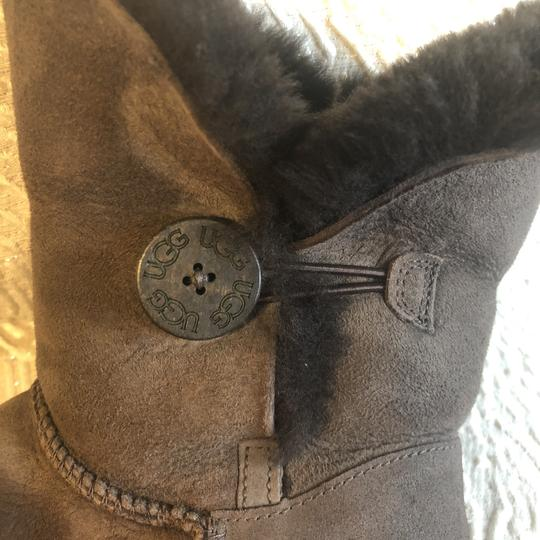 Ugg Short Fur Lined Booties Cocoa Brown Boots Image 5