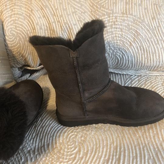 Ugg Short Fur Lined Booties Cocoa Brown Boots Image 6
