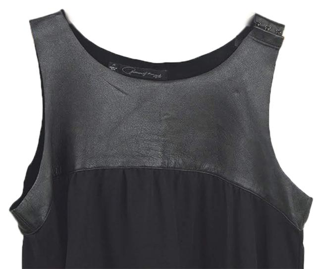 PJK Patterson J. Kincaid Leather Fall Winter Night Out Date Night Top BLACK Image 1