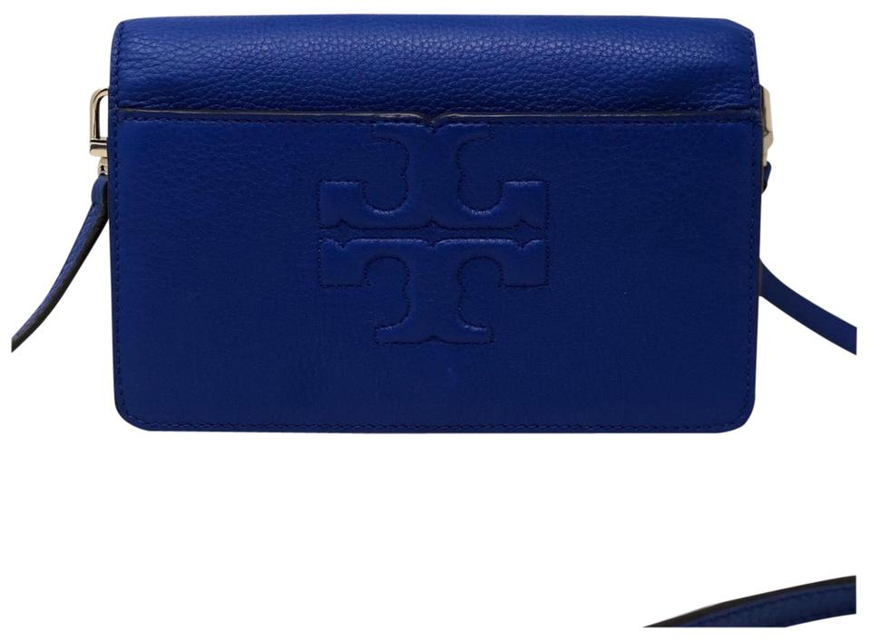 c473f8cf0 Tory Burch Bombe Mini Songbird (Blue) Leather Cross Body Bag - Tradesy