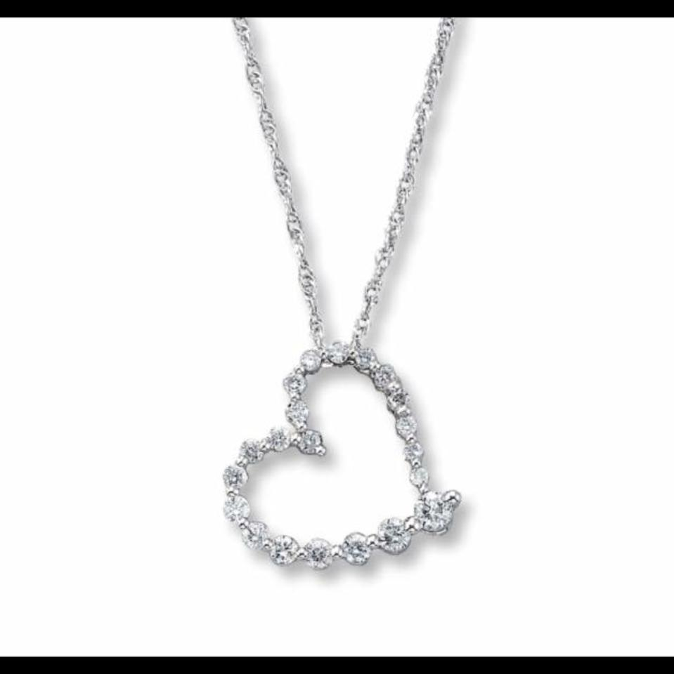 ad8624ac6 Kay Jewelers Journey Heart Necklace Image 1. 12