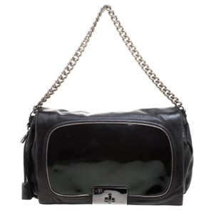 Céline Leather Nylon Chain Shoulder Bag