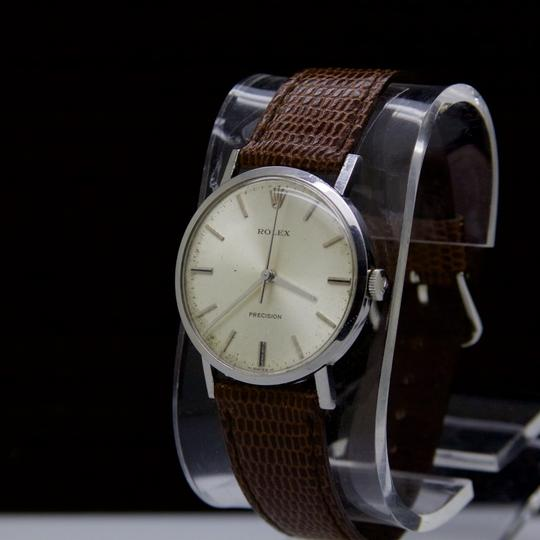 Rolex VINTAGE PRECISION STAINLESS STEEL 1975 WIND UP MOVEMENT SWISS Watch Image 2