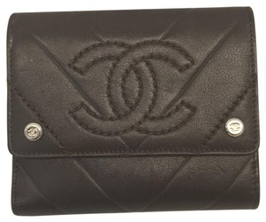 Chanel Chanel Brown Quilted Wallet