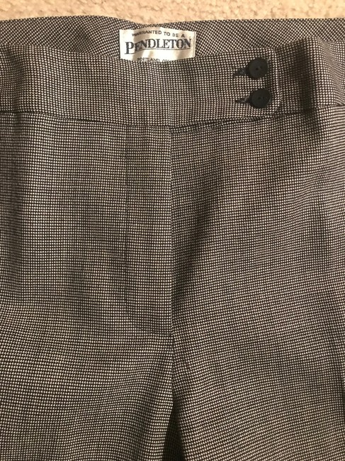 Pendleton Fully Lined Trouser Pants Black/white houndtooth Image 3