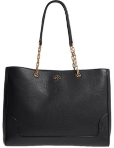 Tory Burch Sale Leather Large Tote in BLACK