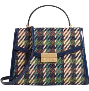 Tory Burch Winter Tweed Rare Tote in Multicolor