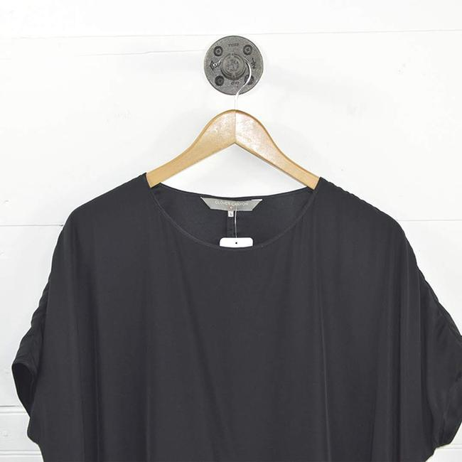 Clover Canyon Silk Ruffle Fall Winter Holiday Top BLACK Image 1