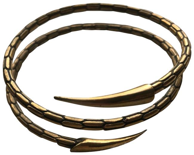 Item - Gold Brass Snake Arm Cuff Boho Bracelet