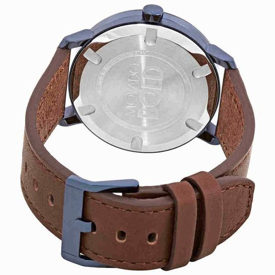 Movado Movado Bold Blue Dial Brown Leather Men's Watch 3600520