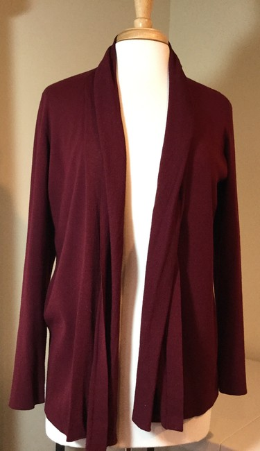 Preload https://img-static.tradesy.com/item/24290336/lafayette-148-new-york-draped-front-maroon-sweater-0-0-650-650.jpg