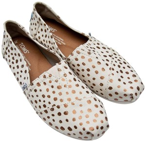 TOMS Tan Rose Gold Flats