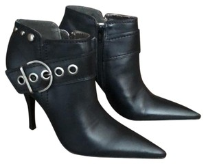 Carlos by Carlos Santana Leather Buckle Black Boots
