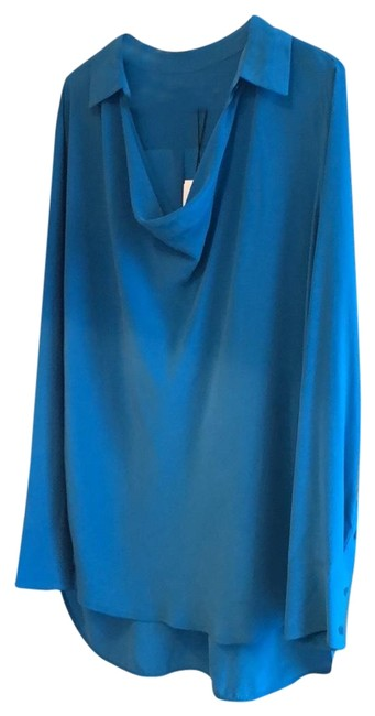 Preload https://img-static.tradesy.com/item/24290354/vince-turquoise-silk-tunic-in-bay-blouse-size-12-l-0-3-650-650.jpg