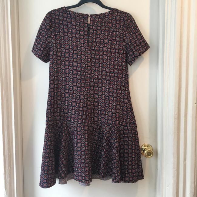 Banana Republic short dress Navy Print Short Sleeve Drop Waist on Tradesy