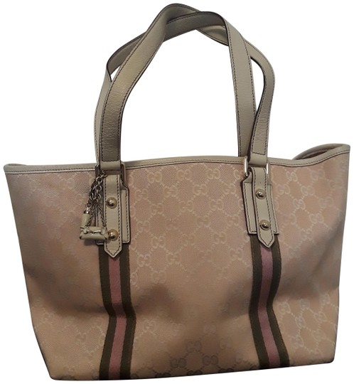 Preload https://img-static.tradesy.com/item/24290366/gucci-logo-132396467891-pink-and-white-canvas-tote-0-1-540-540.jpg