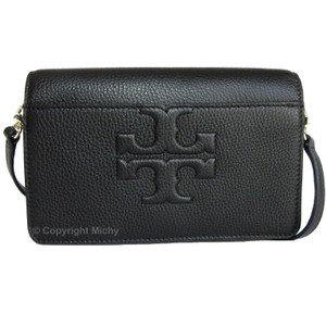 Tory Burch Shoulder Pebbled Leather Detachable Strap Bombe-t Cross Body Bag