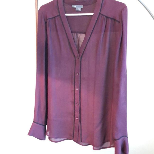Preload https://img-static.tradesy.com/item/24290396/vince-malaga-winemaroon-silk-button-down-with-piping-blouse-size-12-l-0-2-650-650.jpg