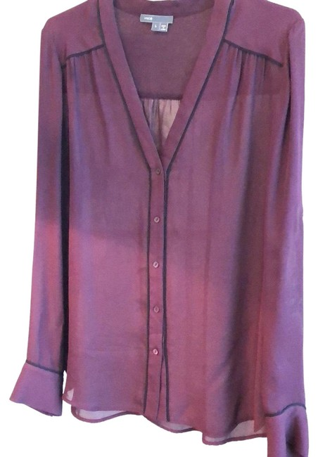 Preload https://img-static.tradesy.com/item/24290396/vince-malaga-winemaroon-silk-button-down-with-piping-blouse-size-12-l-0-3-650-650.jpg